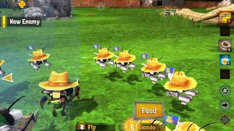 Bug Heroes 2 Fly gameplay - Gnat Banditos everywhere
