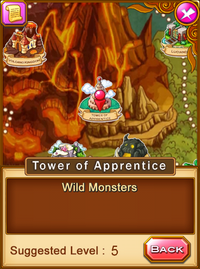 Location-tower of apprentice