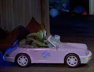 Cute Dolls Pink Car