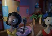 The cute dolls afraid of the evil anti molly