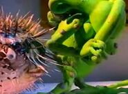 Bumpy walking into the blowfish