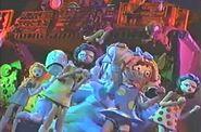 Bumpy characters dance