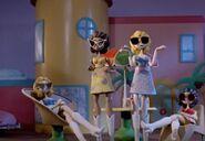 Four cute dolls
