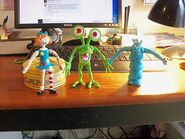 Bump in the Night Bendable Figures complete set out of box
