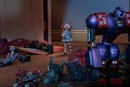 Destructo with the rest of the toys