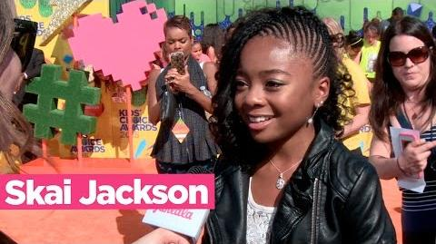 Skai Jackson Shows off her fashion at the 2015 KCAs!
