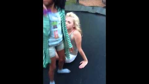 Skai Jackson and Peyton List on trampoline-0