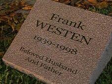 Frank westen headstone