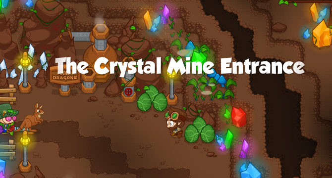 The Crystal Mine Entrance