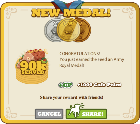 Feed an Army Royal Medal