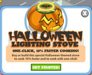 Halloween stove