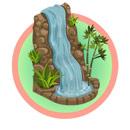 Wedding finale waterfall feedart