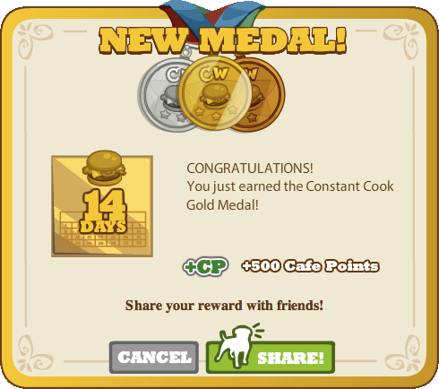 Constant Cook Gold Medal