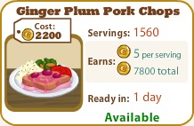 Ginger Plum Pork Chops