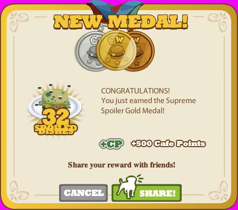 Supreme Spoiler Gold Medal