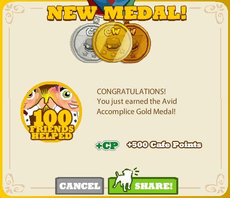 Avid Accomplice Gold Medal