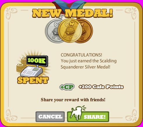 Scalding Squanderer Silver Medal