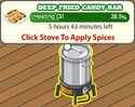 Deep Fried Candy Bar 1 heating oil