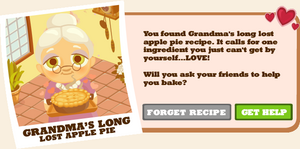 Grandma's Long Lost Apple Pie