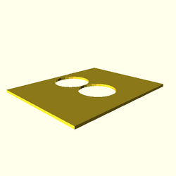 OpenSCAD win 586 mesa-dri-intel(r) hdct regression throwntogethertest polygon-holes-touch-expected