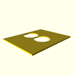 OpenSCAD linux ppc64 gallium-0.4-on hvub throwntogethertest-output polygon-holes-touch-actual