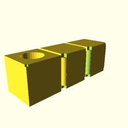 OpenSCAD linux ppc64 gallium-0.4-on hvub opencsgtest-output render-tests-actual