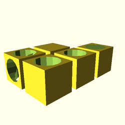 OpenSCAD linux i686 mesa-dri-r300 wicr opencsgtest-output difference-tests-actual