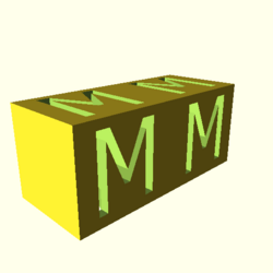 OpenSCAD linux i686 mesa-dri-r300 wicr regression opencsgtest example016-expected