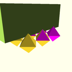 OpenSCAD mac 64-bit nvidia-geforce-gt cdiv throwntogethertest-output polyhedron-tests-actual