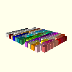 OpenSCAD linux ppc64 gallium-0.4-on hvub regression opencsgtest testcolornames-expected