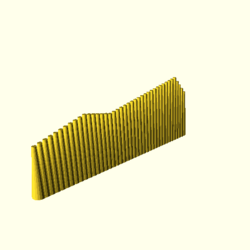 OpenSCAD linux i686 mesa-dri-r300 wicr regression opencsgtest example019-expected