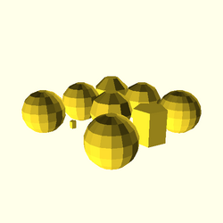 OpenSCAD win 586 ati-radeon-x300 hdrv opencsgtest-output sphere-tests-actual