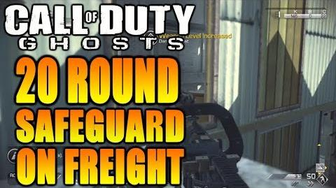 COD Ghosts Safeguard Full Round 20 Gameplay on Freight - Easy Victory Method