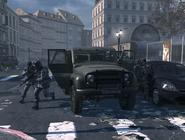 Ultranationalists deploying from UAZ MW3