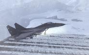 MiG-29 landing Cliffhanger MW2