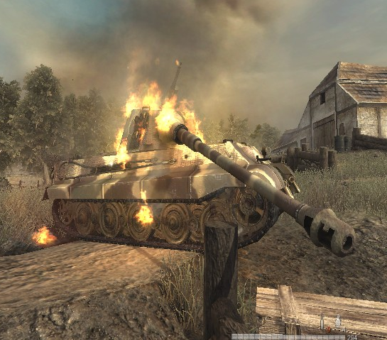 File:Destroyed Tiger II WaW.png