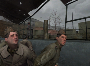 Stalingrad (level) going to get off the boat CoD1