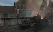 Destroyed Tiger I CoD2
