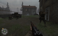 Soldier aiming Panzerschreck Approaching Hill 400 CoD2.png
