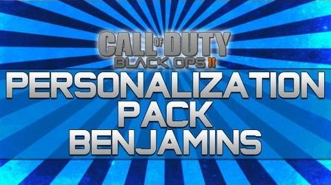 Black Ops 2 - Personalization Pack Benjamins!! (Camo, Reticle and Calling Card)