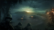 Bay Invasion Concept Art WaW