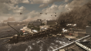 Collapsed Eiffel Tower Iron Lady MW3