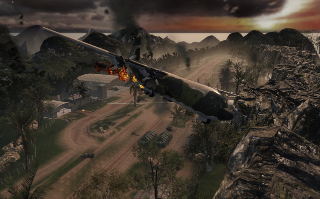 File:B-26 going down Operation 40 BO.png