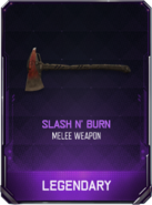 Slash N' Burn Supply Drop Card BO3