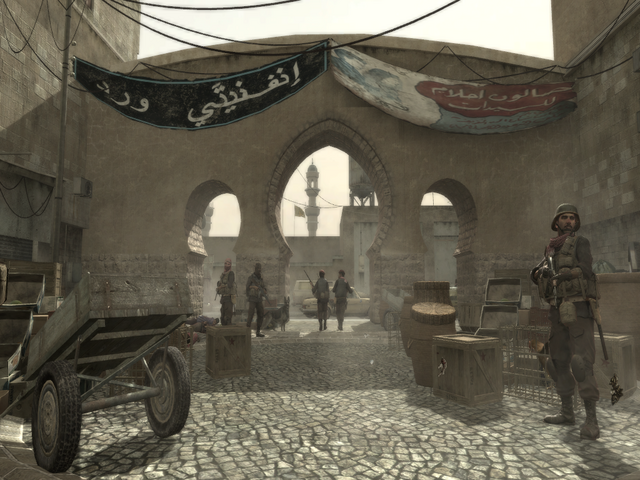 File:Infinity Ward Arabic Writing on a Banner.png