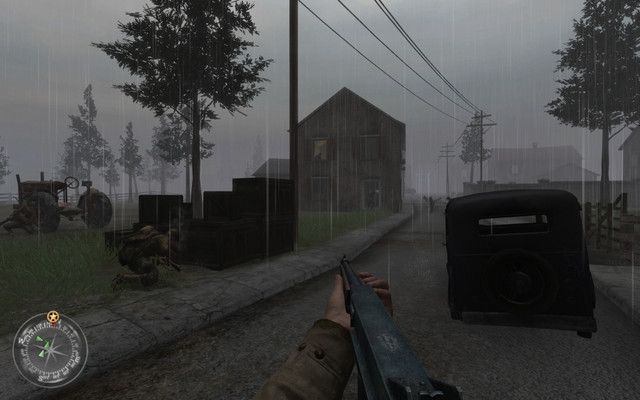 File:Approaching second house Approaching Hill 400 CoD2.png