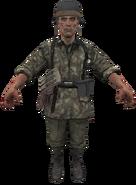 German Panzergrenadier model WaW