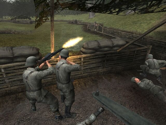 File:Call of Duty-German MG42 crew Brecourt Manor.jpg