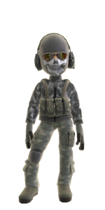 Xbox avatar Ghost outfit MW2