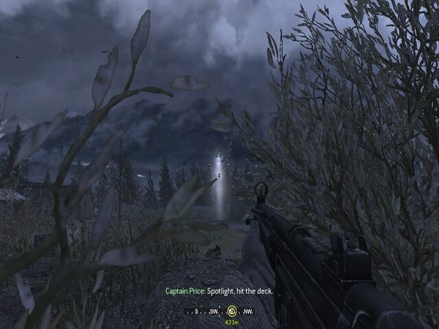 File:Hiding in bushes from enemy heli Hunted CoD4.jpg